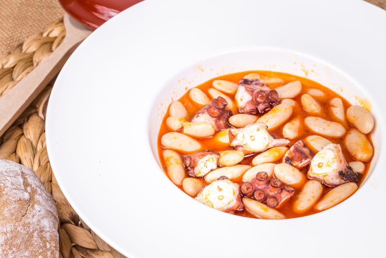 Faba Asturiana con Pulpo, receta de Fabas La Estela